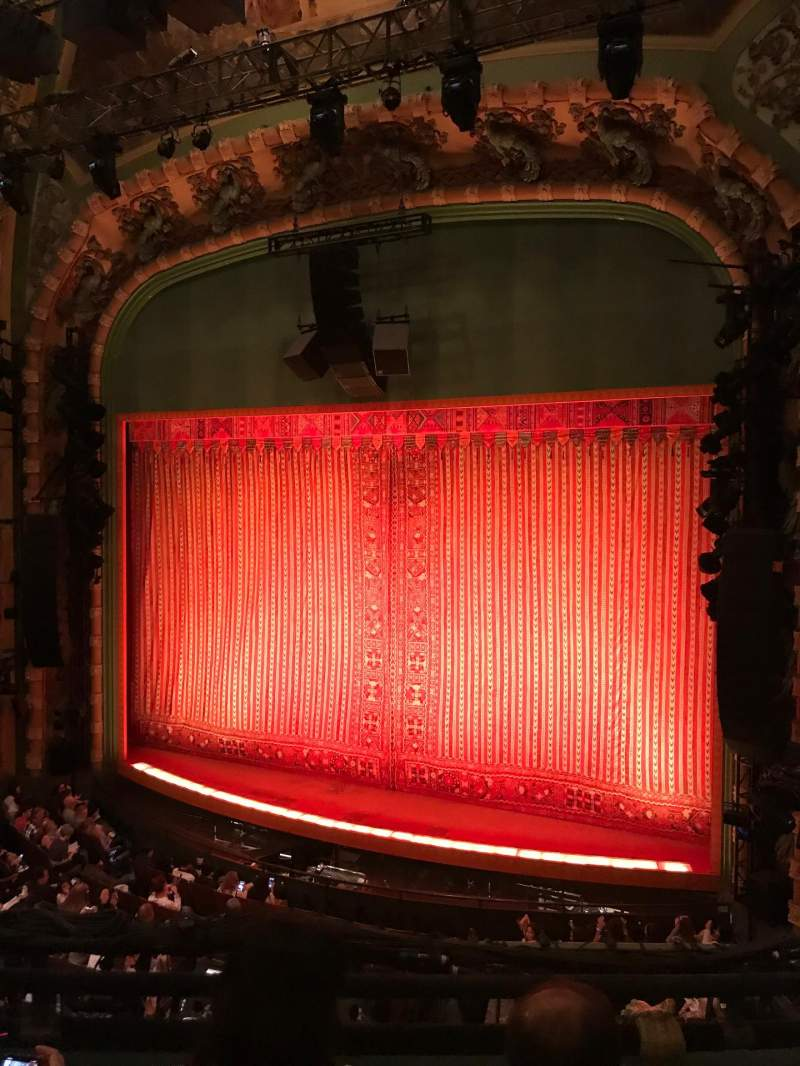 Seating view for New Amsterdam Theatre Section Mezzanine R Row CC Seat 14