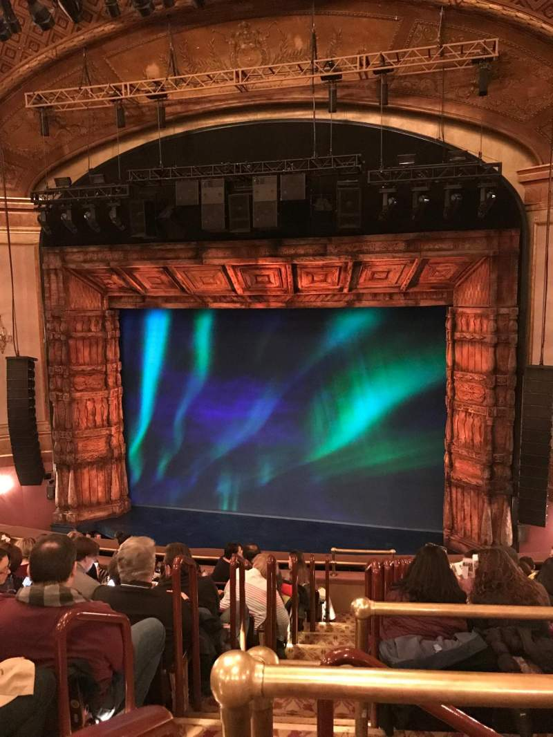 Seating view for St. James Theatre Section Mezzanine R Row CC Seat 2