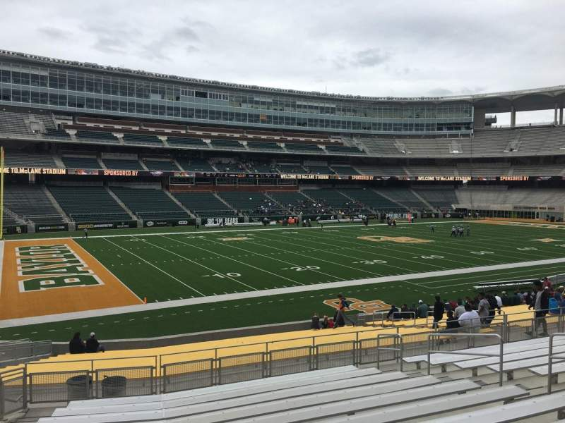 Seating view for McLane Stadium Section 129 Row 26 Seat 12
