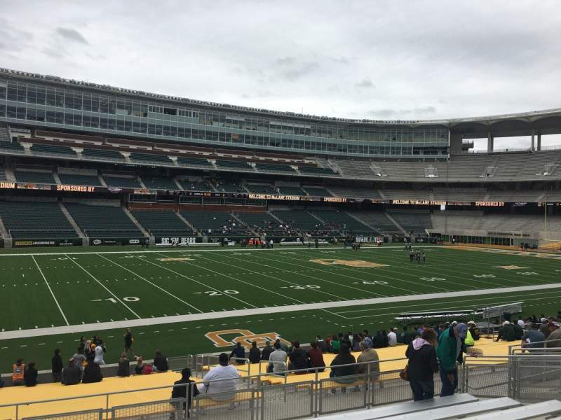 Seating view for McLane Stadium Section 128 Row 23 Seat 16