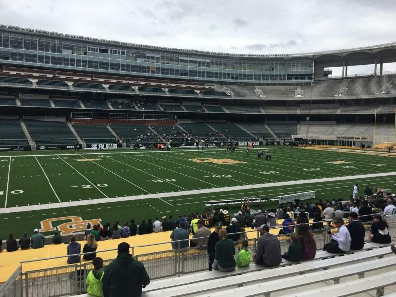 Seating view for McLane Stadium Section 127 Row 23 Seat 23