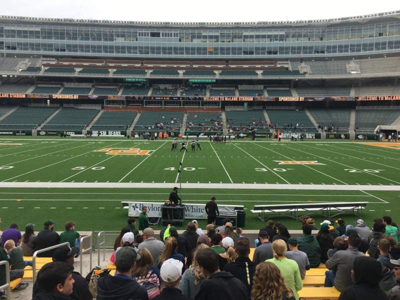 Seating view for McLane Stadium Section 125 Row 13 Seat 30