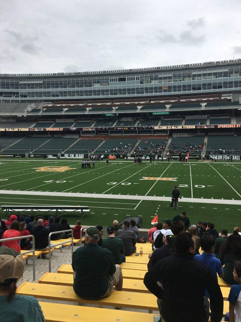Seating view for McLane Stadium Section 123 Row 13 Seat 31