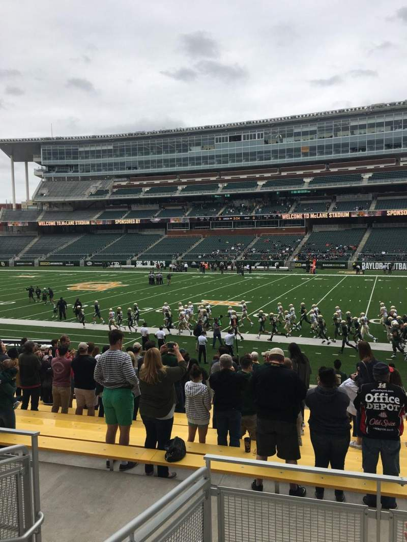 Seating view for McLane Stadium Section 121 Row 18 Seat 19
