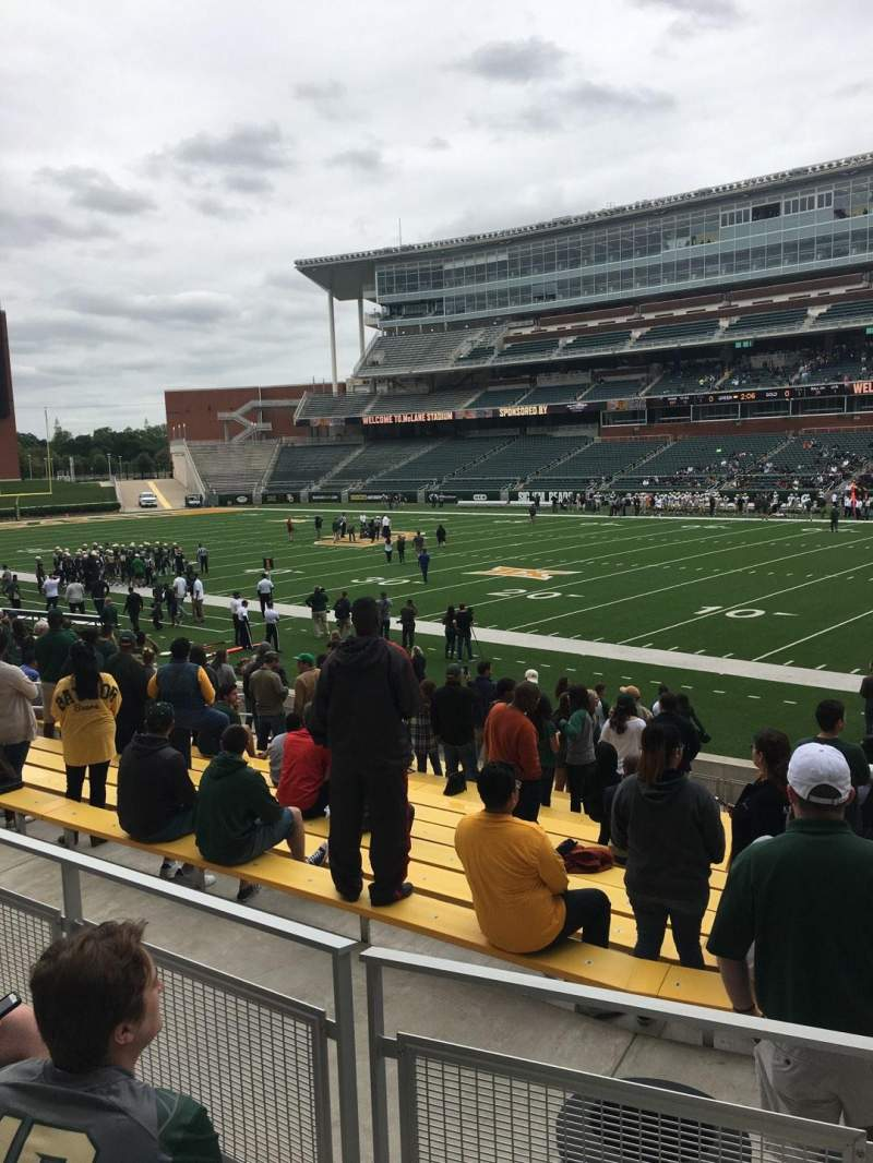 Seating view for McLane Stadium Section 120 Row 17 Seat 1
