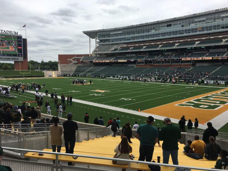 Seating view for McLane Stadium Section 119 Row 18 Seat 10