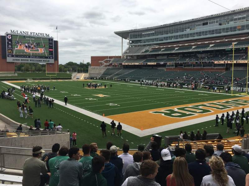 Seating view for McLane Stadium Section 118 Row 22 Seat 15