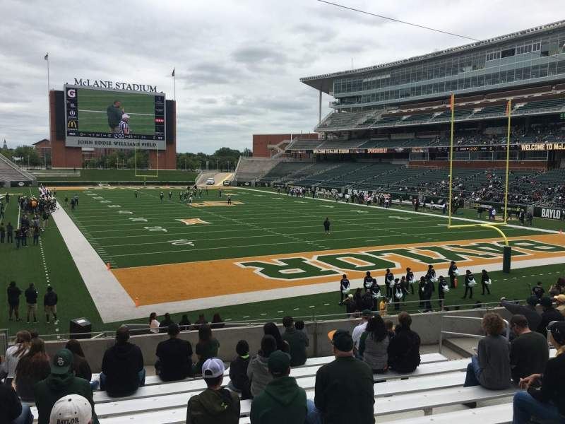 Seating view for McLane Stadium Section 117 Row 21 Seat 12