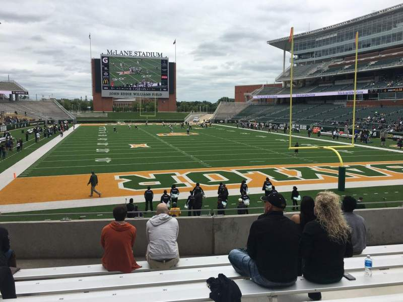 Seating view for McLane Stadium Section 116 Row 18 Seat 19
