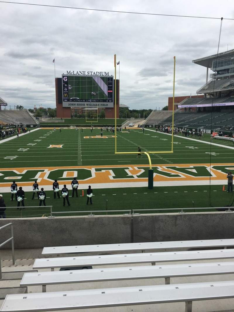 Seating view for McLane Stadium Section 115 Row 19 Seat 32