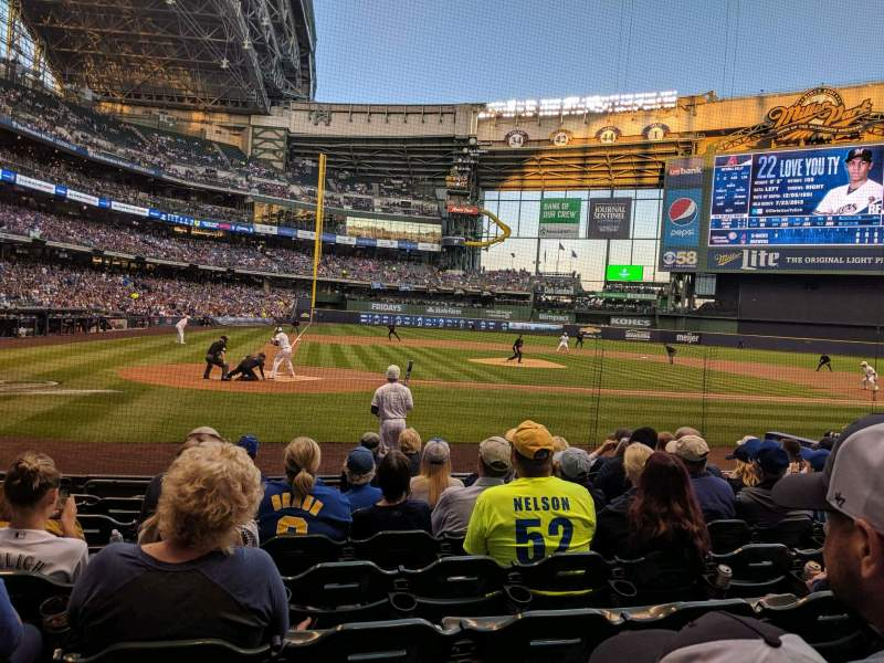 Seating view for Miller Park Section 115 Row 9 Seat 5