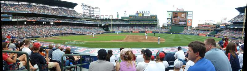Seating view for Turner Field Section 113 Row 10 Seat 2