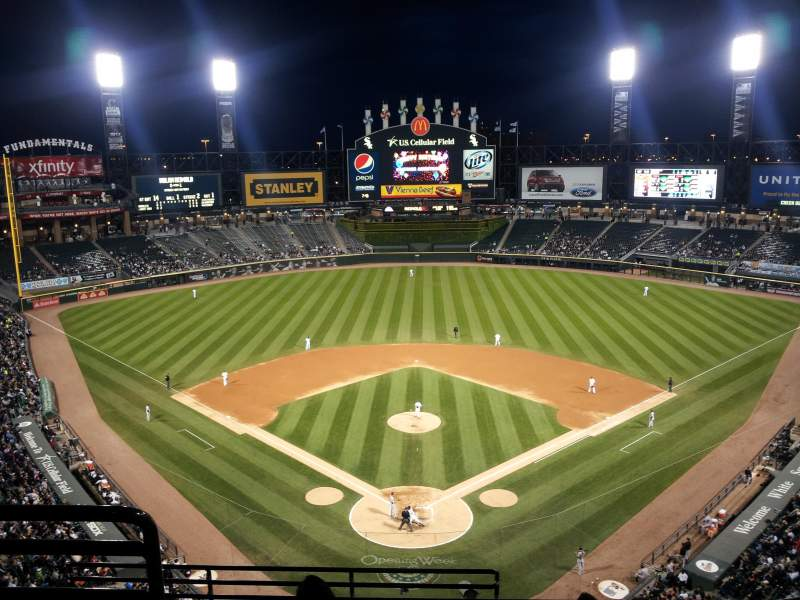 Seating view for Guaranteed Rate Field Section 531 Row 8 Seat 16