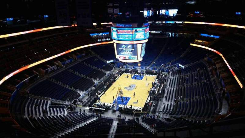 Seating view for Amway Center Section 216 Row 14 Seat 2