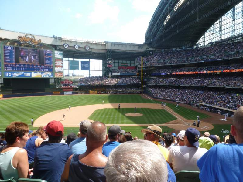 Seating view for Miller Park Section 223 Row 9 Seat 14