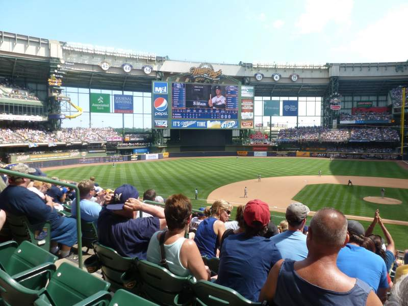 Seating view for Miller Park Section 223 Row 9 Seat 15