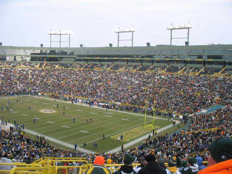 Seating view for Lambeau Field Section 338