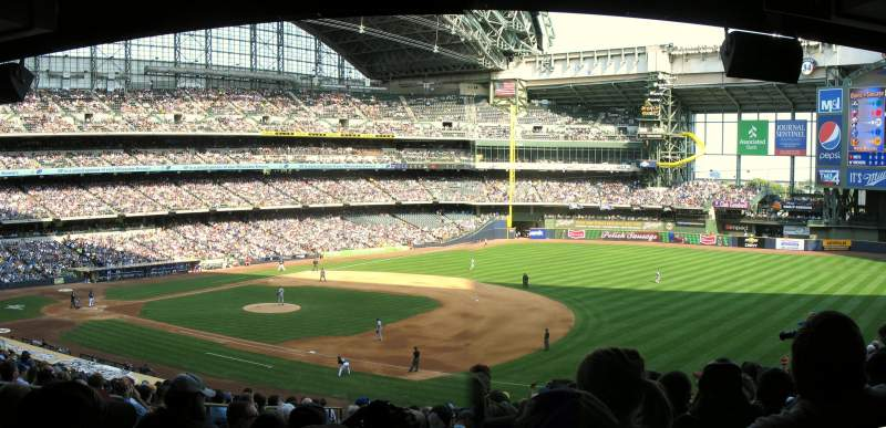 Seating view for Miller Park Section 210 Row 19 Seat 7