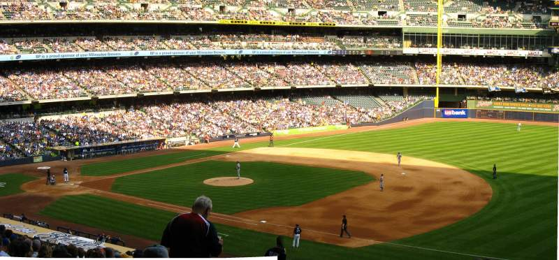 Seating view for Miller Park Section 210 Row 19 Seat 10
