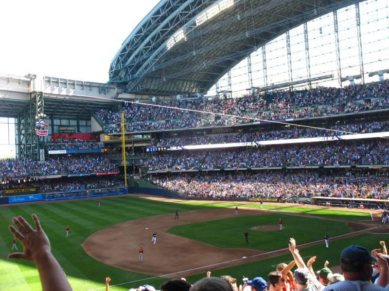 Seating view for Miller Park Section 228 Row 15