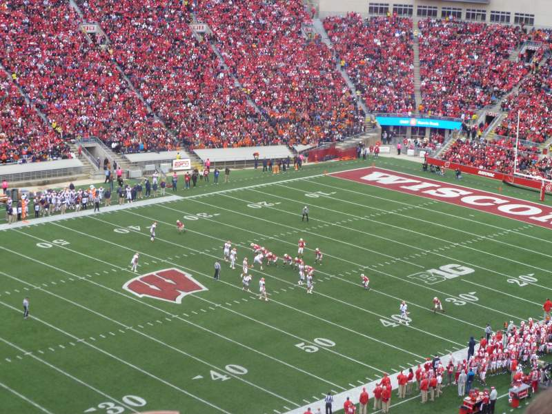 camp randall stadium section jj home of wisconsin badgers. Black Bedroom Furniture Sets. Home Design Ideas