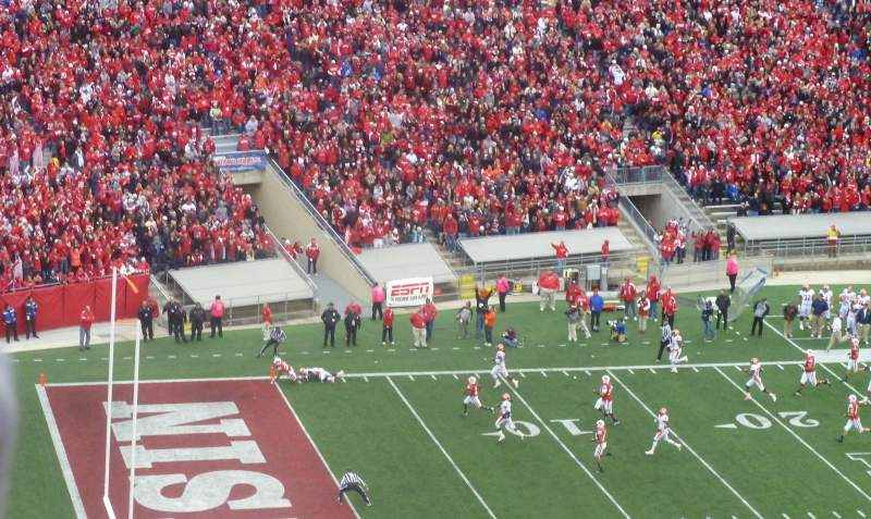 Seating view for Camp Randall Stadium Section JJ Row 26 Seat 10