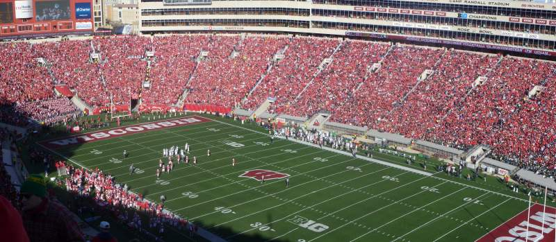 Seating view for Camp Randall Stadium Section AA Row 36 Seat 15