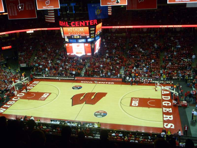 Seating view for Kohl Center Section 307 Row G Seat 1