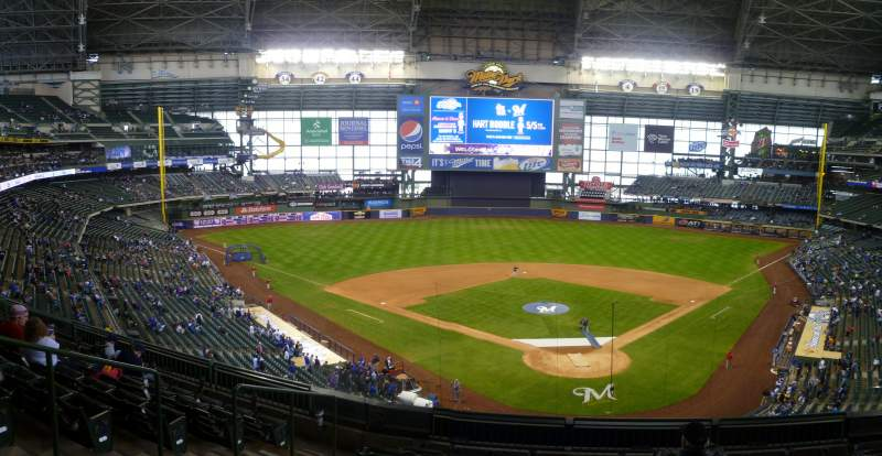 Seating view for Miller Park Section 332 Row 3 Seat 6