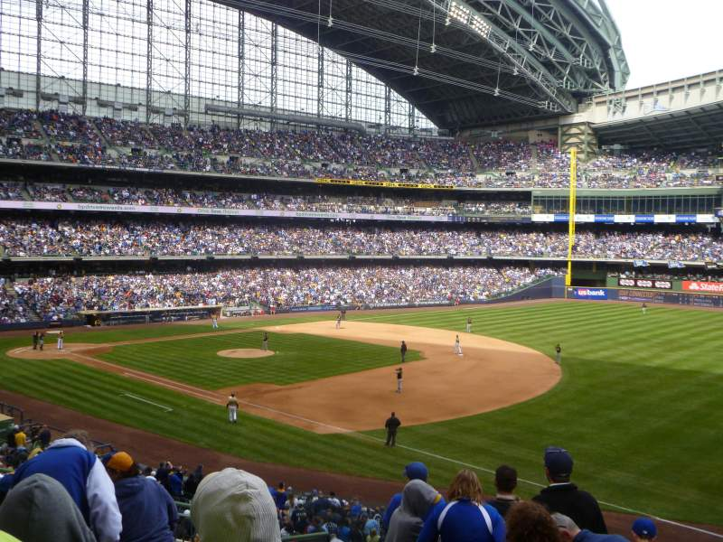 Seating view for Miller Park Section 209 Row 8 Seat 5