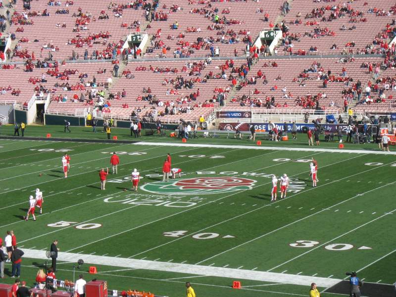 Seating view for Rose Bowl Section 21 Row 56 Seat 13
