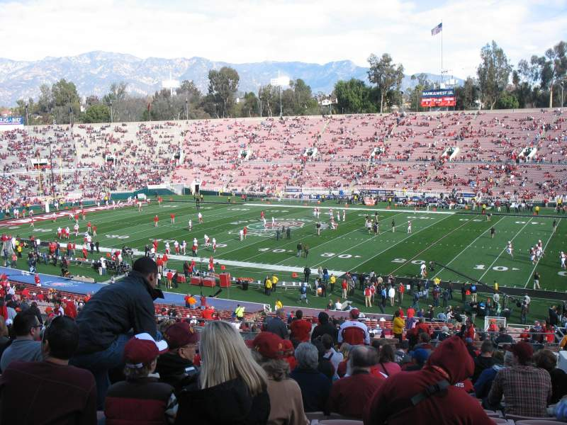 Seating view for Rose Bowl Section 21-L Row 56 Seat 14