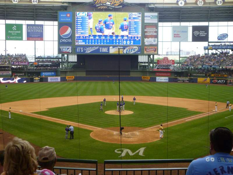 Seating view for Miller Park Section 219 Row 5 Seat 6