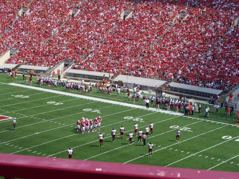camp randall stadium section aa row 2 seat 9. Black Bedroom Furniture Sets. Home Design Ideas
