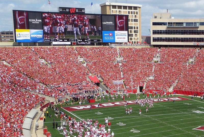 Seating view for Camp Randall Stadium Section AA Row 1 Seat 10