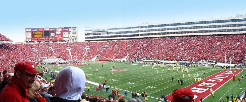 Seating view for Camp Randall Stadium Section A Row 35 Seat 10