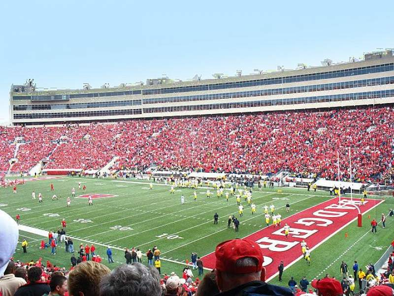 Camp Randall Stadium, section: A, row: 41, seat: 8