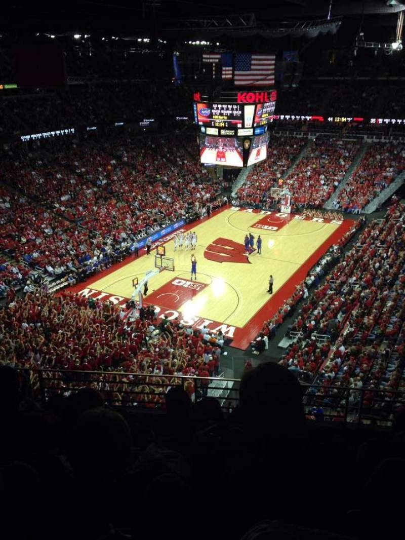 Seating view for Kohl Center Section 313 Row E Seat 7