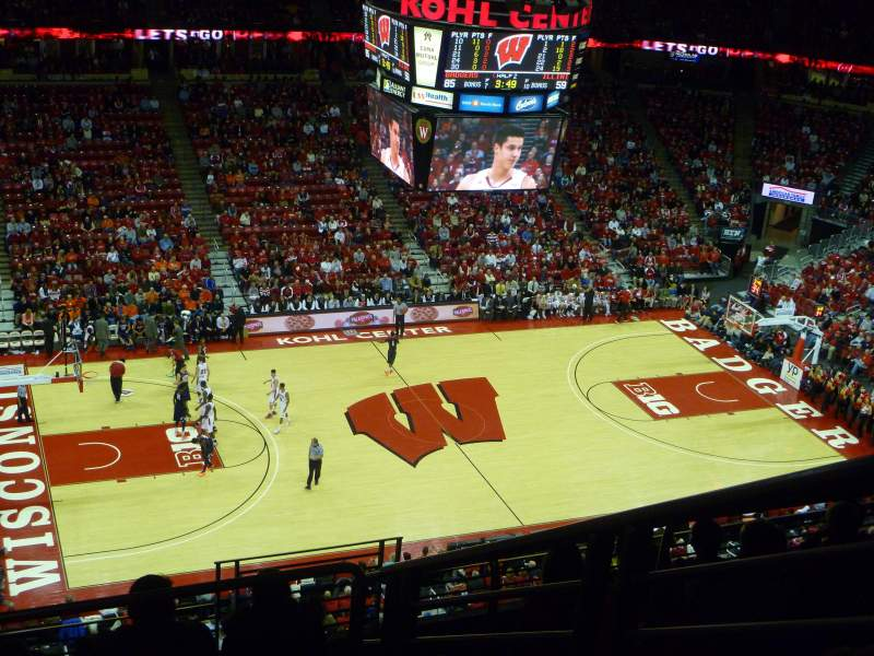 Seating view for Kohl Center Section 310 Row H Seat 3