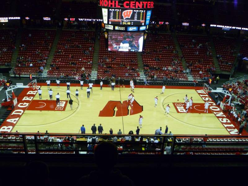 Seating view for Kohl Center Section 322 Row C Seat 13
