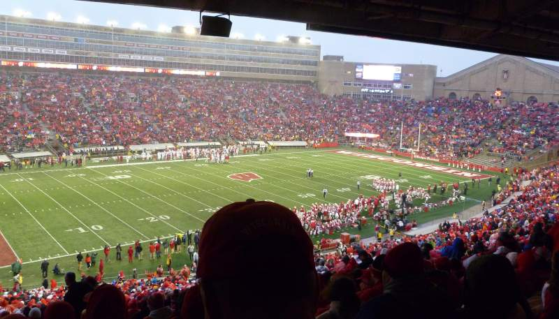 Seating view for Camp Randall Stadium Section H Row 64 Seat 25