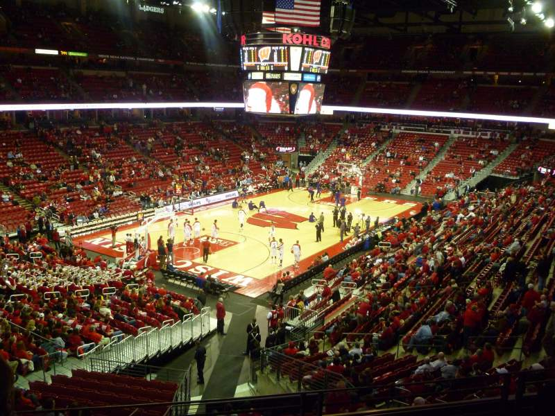 Seating view for Kohl Center Section 212 Row D Seat 14