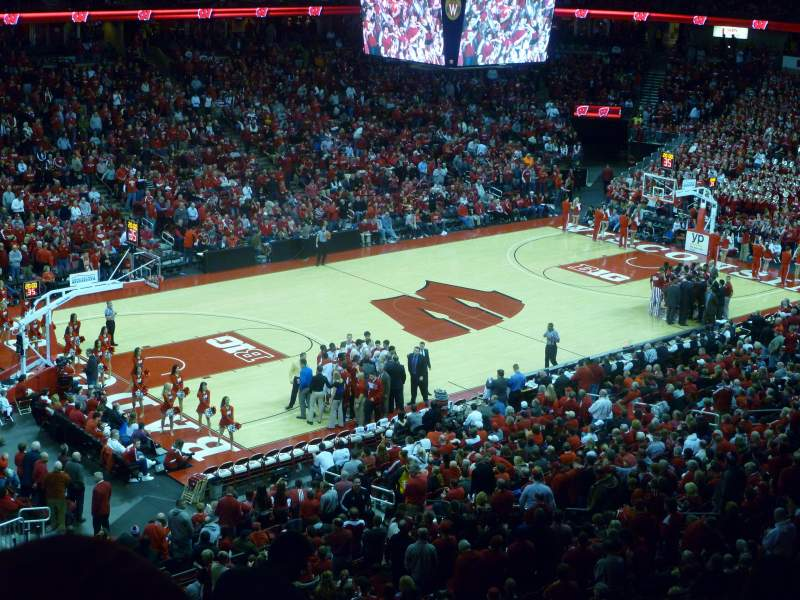 Seating view for Kohl Center Section 225 Row J Seat 11