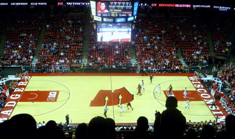 Seating view for Kohl Center Section 322 Row H Seat 14
