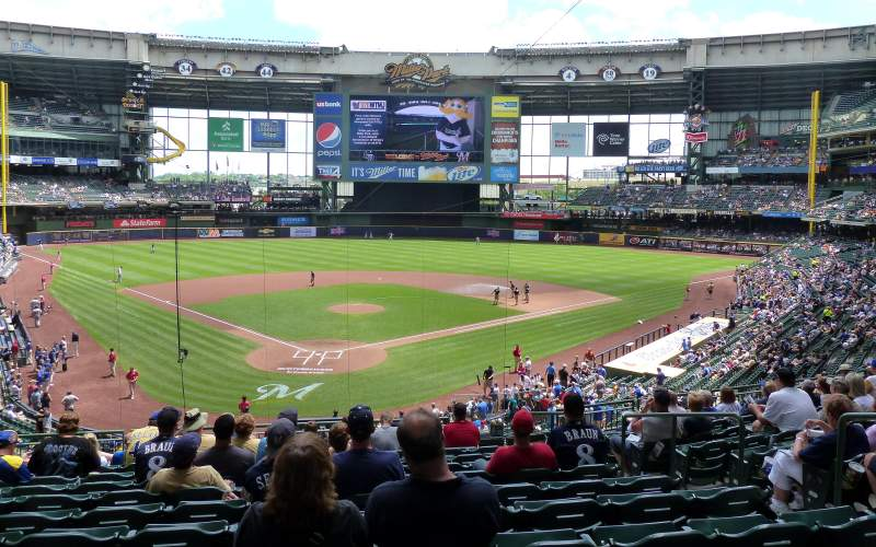 Seating view for Miller Park Section 218