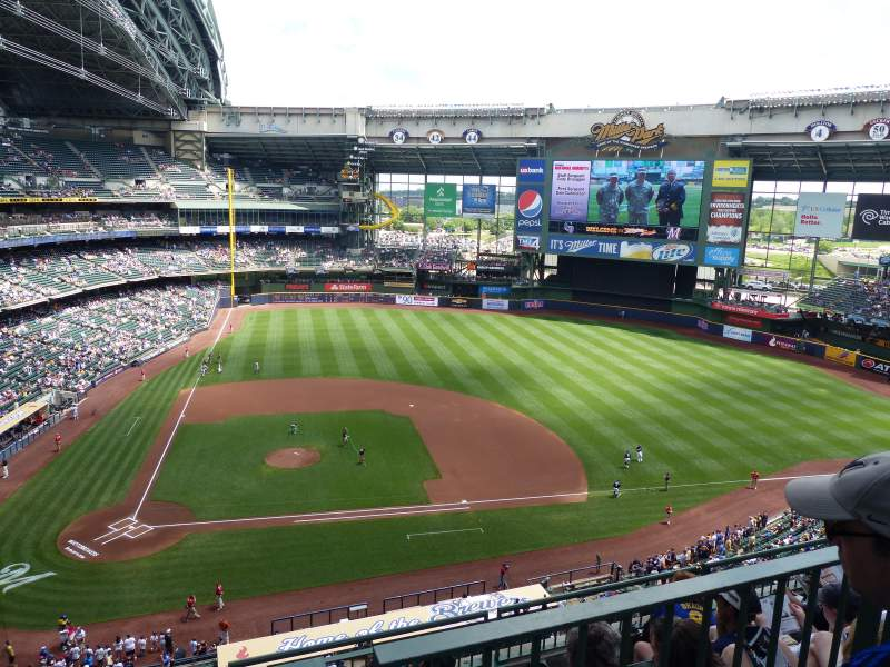 Seating view for Miller Park Section 416 Row 15 Seat 10