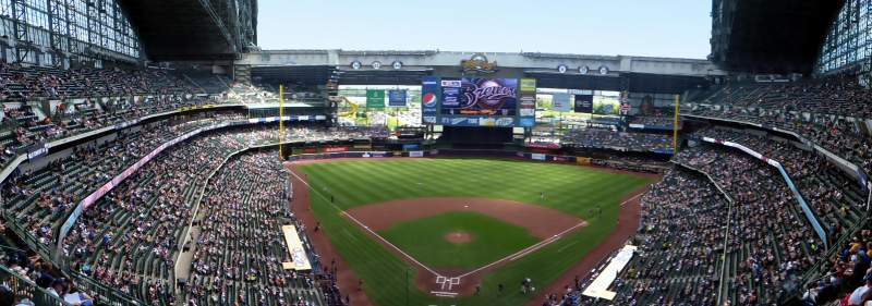 Seating view for Miller Park Section 421 Row 16 Seat 5