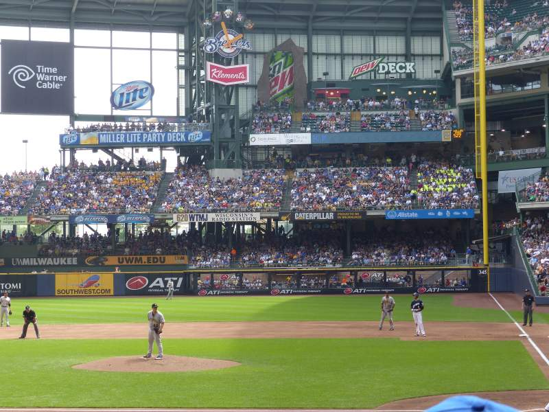 Seating view for Miller Park Section 120 Row 15 Seat 8