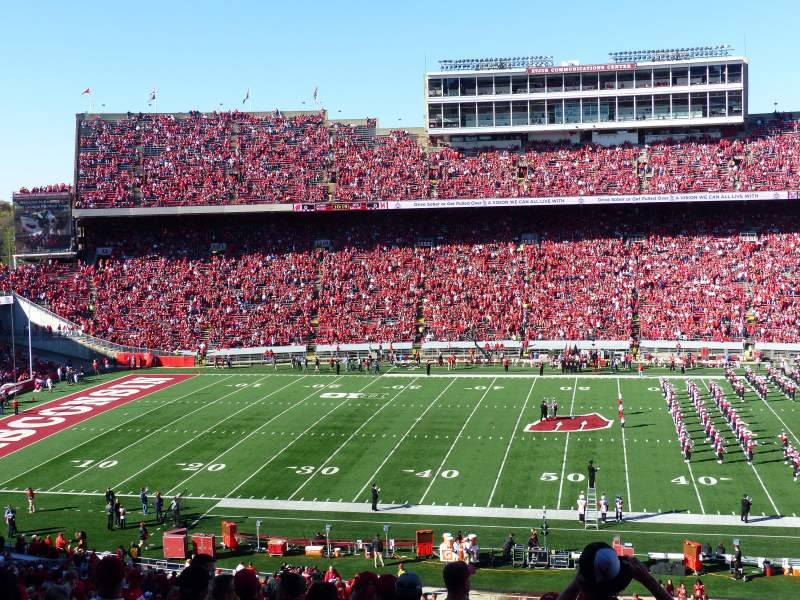 Camp Randall Stadium, section: T, row: 70, seat: 16