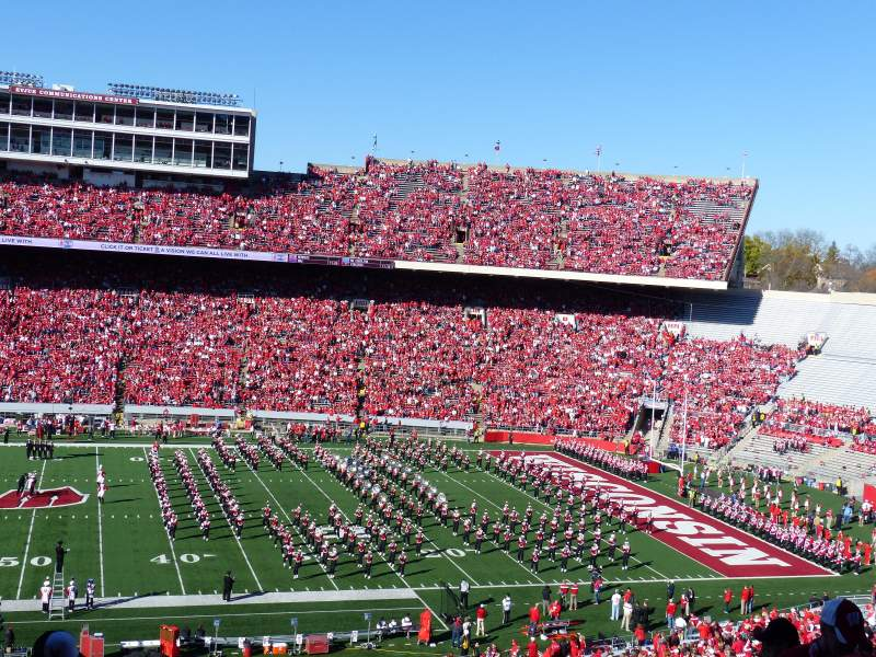 Seating view for Camp Randall Stadium Section T Row 70 Seat 15